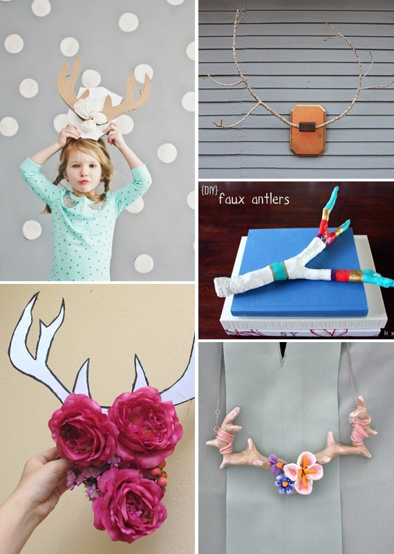 Make it Friday: DIY Faux Antlers via Jade and Fern