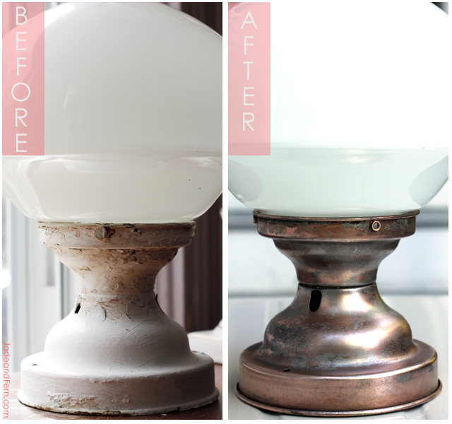 Restoring a Copper Light Fixture || Jade and Fern