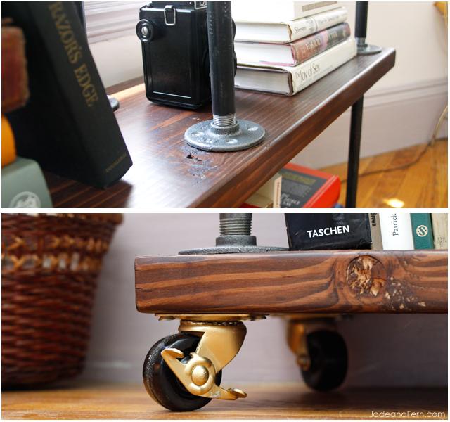 DIY Industrial Bookshelf || Jade And Fern
