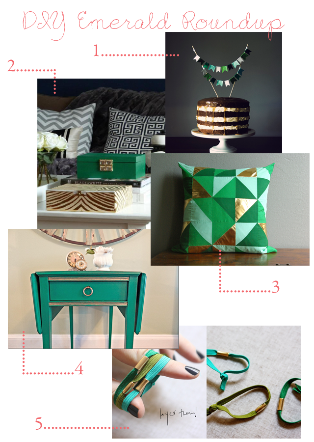 DIY Emerald Projects Roundup || via Jade and Fern