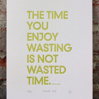 On Wasting Time