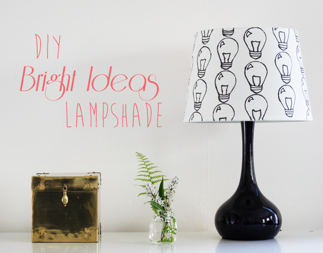 DIY Bright Ideas Lampshade || Jade and Fern
