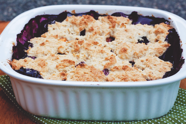 Blueberry Nectarine Cobbler with Pomegranate and Lime || Jade and Fern