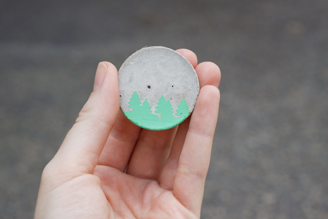 DIY Cement Brooches || Jade and Fern