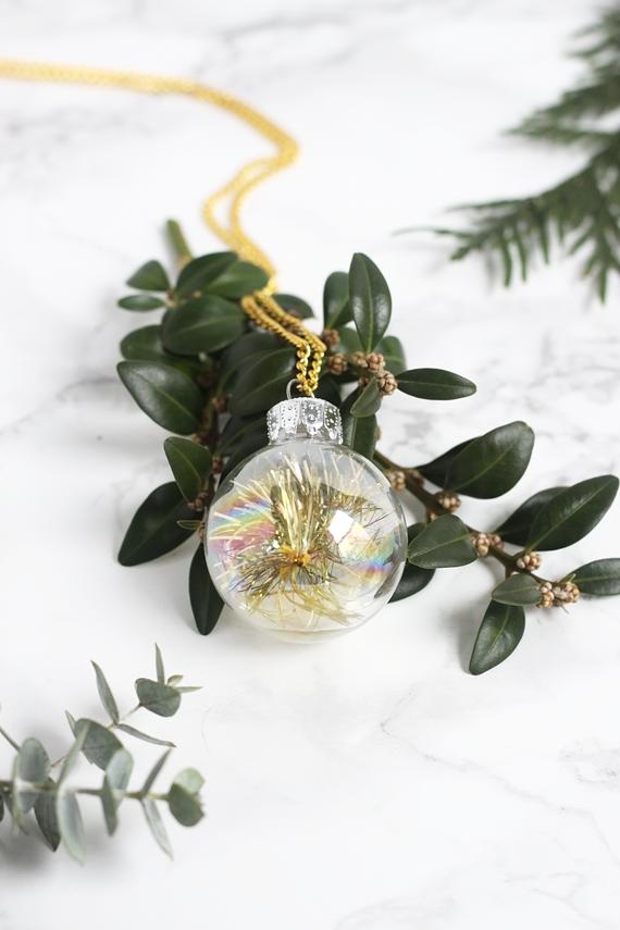 DIY Mini Ornament Necklace for SheKnows