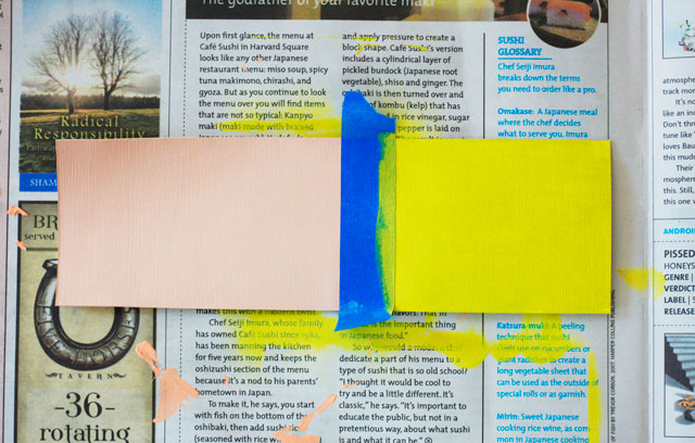 DIY Color-block Bookmarks || Jade and Fern