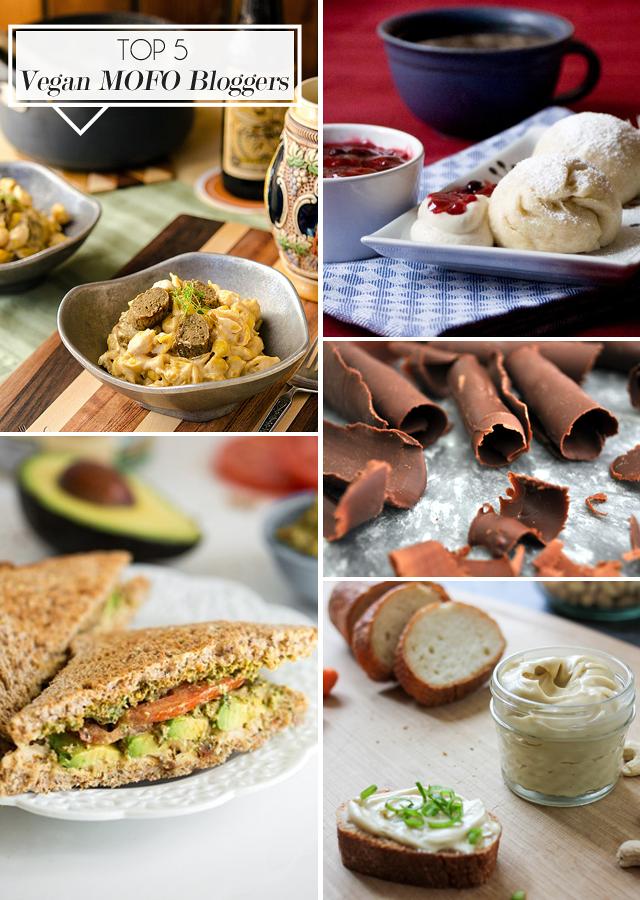 Top 5 Vegan MoFo Bloggers || Jade and Fern