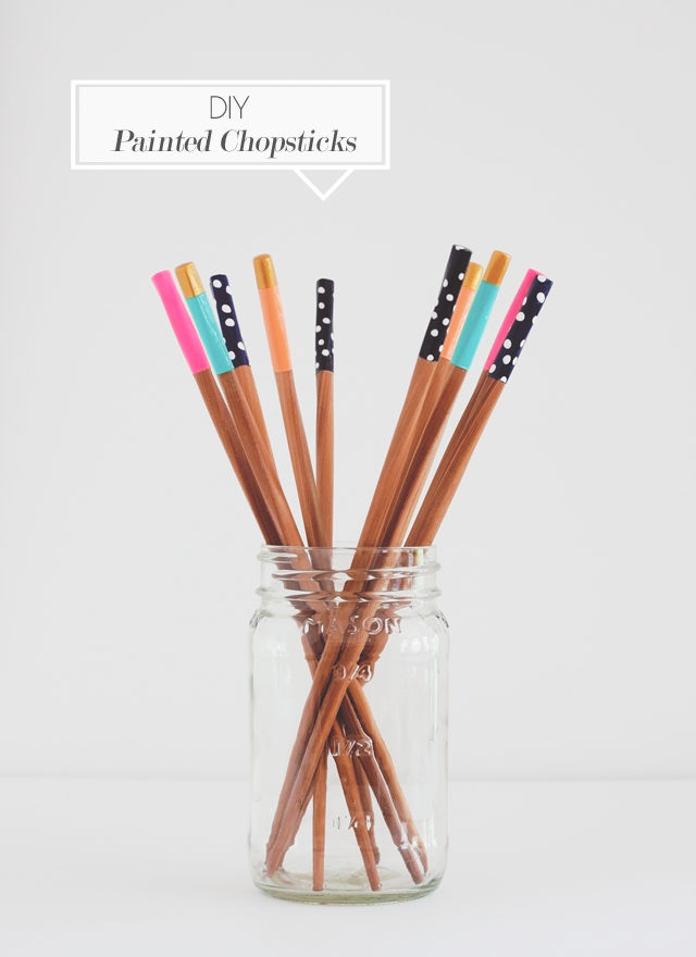 DIY Painted Chopsticks || Jade and Fern