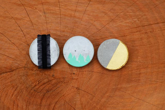 Industrial Fashion: DIY Cement Brooches