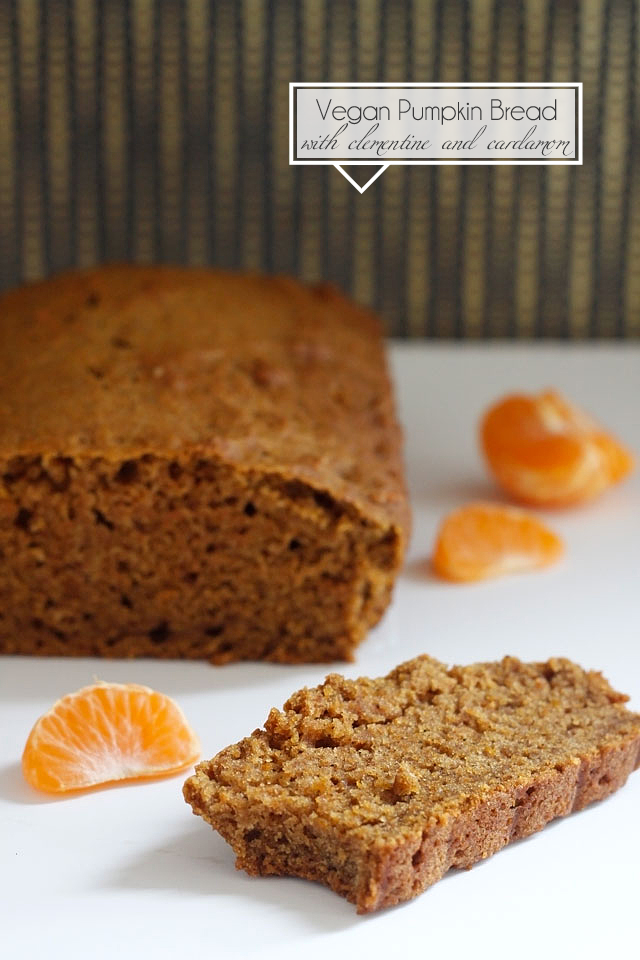 Vegan Pumpkin Bread with Clementine and Cardamom || Jade and Fern via Ladyface Blog