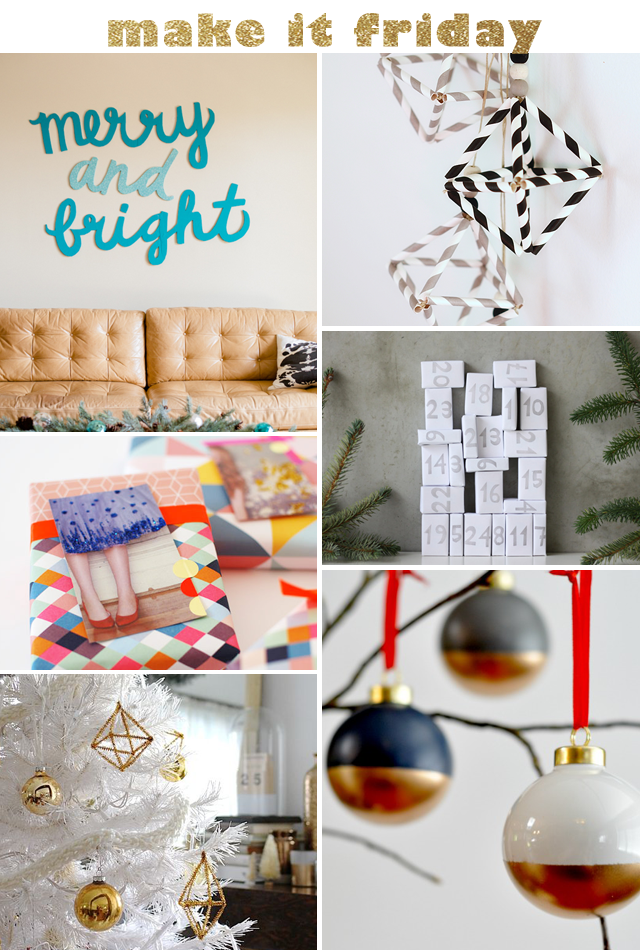 Make It Friday: Holiday DIYs || Jade and Fern