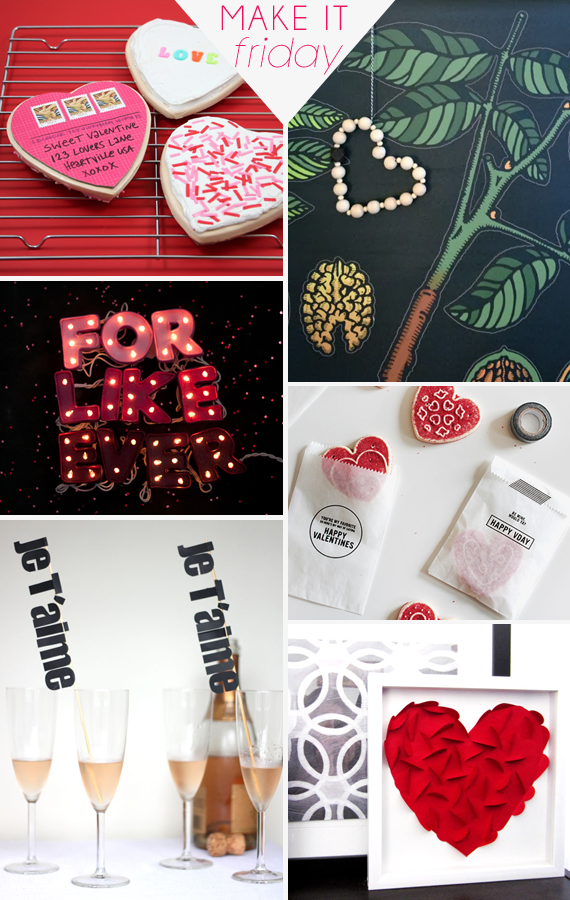 Make It Friday: Valentine's Day DIY Ideas @idlehandsawake