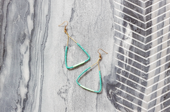 DIY Color Block Triangle Earrings || Jade and Fern