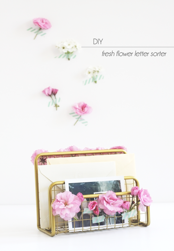 DIY Fresh Flower Letter Sorter || Idle Hands Awake