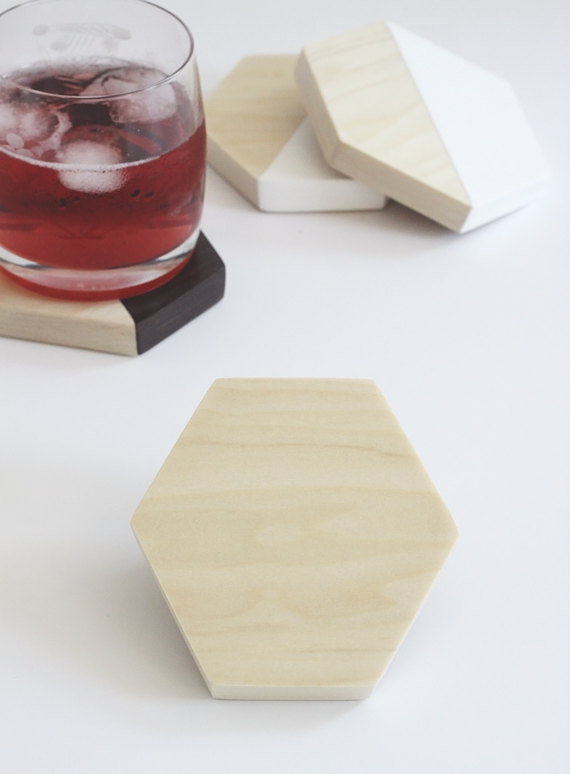 DIY Wood Hexagon Coasters || Jade and Fern