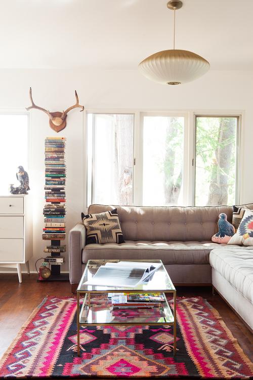 White Living Room Inspiration - home of Sonja Rasula and Jonathan Sager