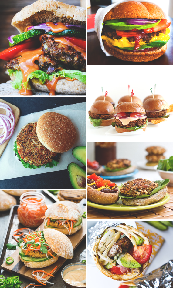 7 Vegan Burgers for Your Memorial Day Cookout || via Idle Hands Awake