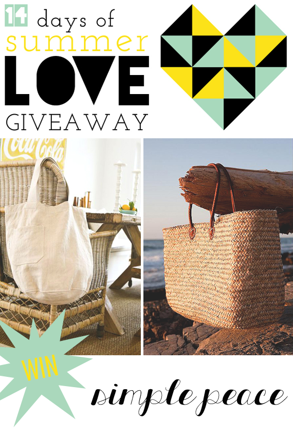 Win Two Bags by Simple Peace via Idle Hands Awake || #14daysoflove