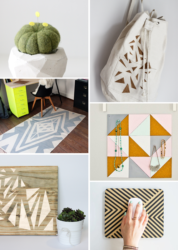 Make it Friday: Geometric DIYs via Idle Hands Awake