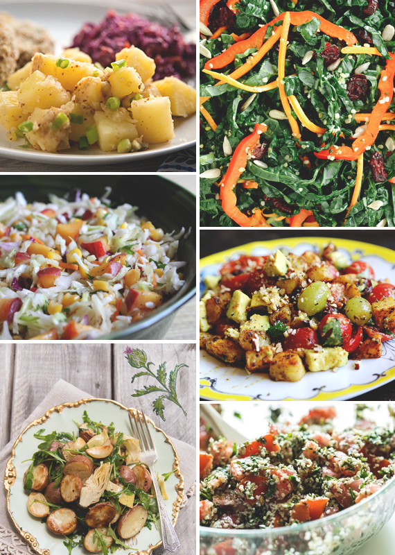 6 Vegan & Gluten Free Salads for Labor Day || via Jade and Fern