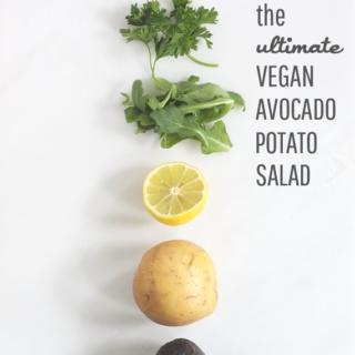 The Ultimate Vegan Avocado Potato Salad || Idle Hands Awake
