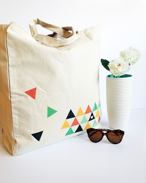 DIY Printed Tote Bag by Make and Tell