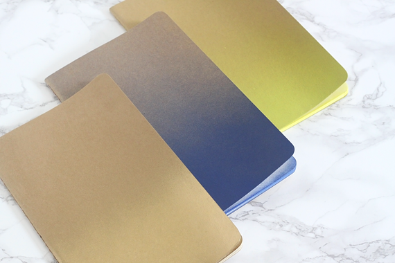 DIY Ombre Notebooks by Jade and Fern