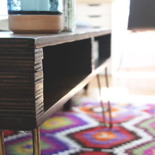 DIY Storage Coffee Table by Idle Hands Awake