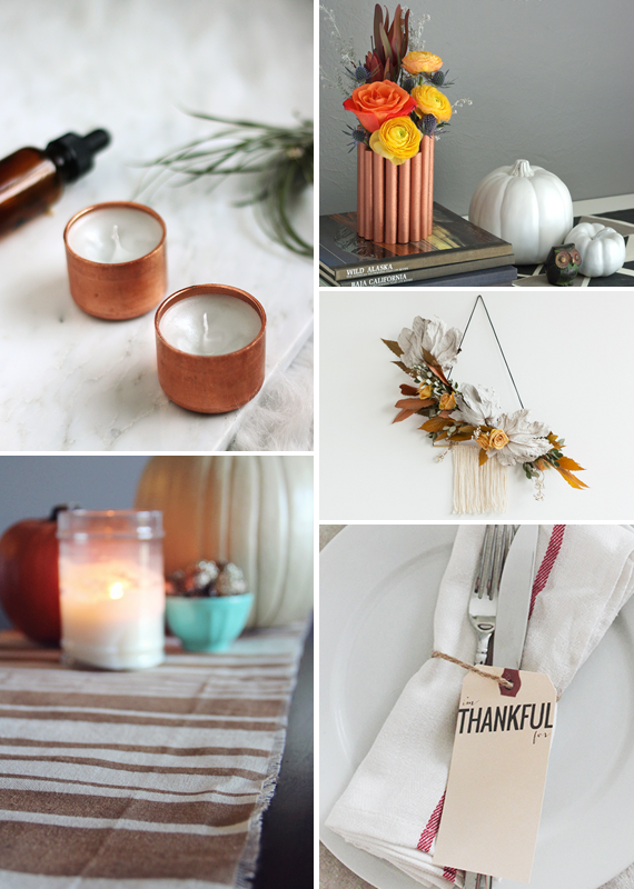 Make it Friday: Modern Thanksgiving DIYs