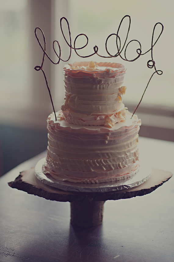 We're getting married! Cake photo by The Gemmers via Ruffled Blog