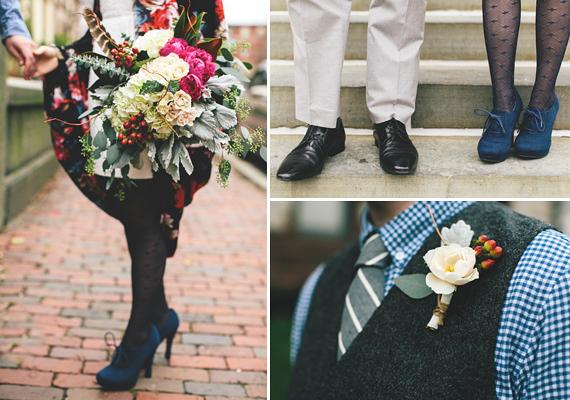 November Courthouse Wedding - Jade and Fern