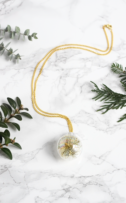 DIY Mini Ornament Necklace by Jade and Fern