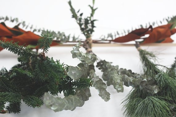 DIY Modern Holiday Garland by Jade and Fern