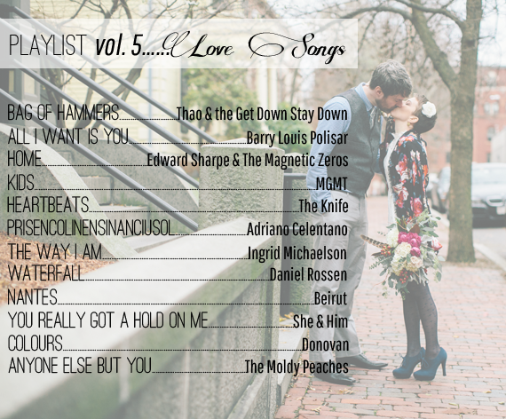 Playlist Volume 5 - Love Songs