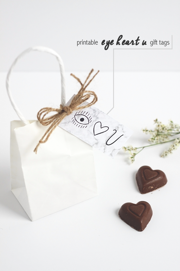 Printable Valentine's Day Gift Tags by Jade and Fern and Make and Tell