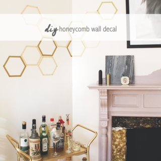 DIY Honeycomb Wall Decal by Idle Hands Awake