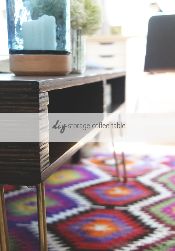 DIY Storage Coffee Table by Jade and Fern