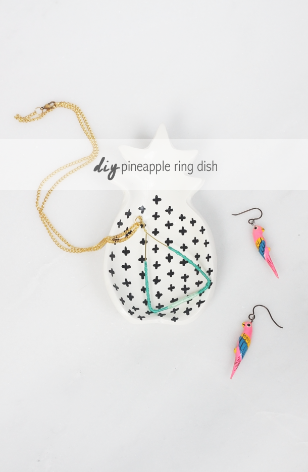 DIY Pineapple Ring Dish by Jade and Fern