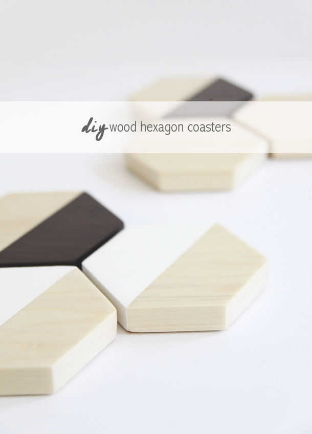 DIY Wood Hexagon Coasters by Jade and Fern