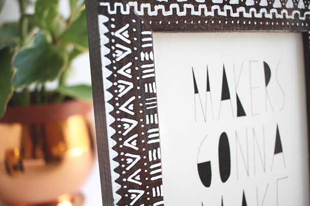 DIY Mudcloth Picture Frame // Jade and Fern