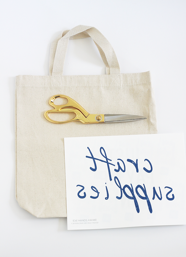 DIY Iron-on Tote Bag with printable by Idle Hands Awake