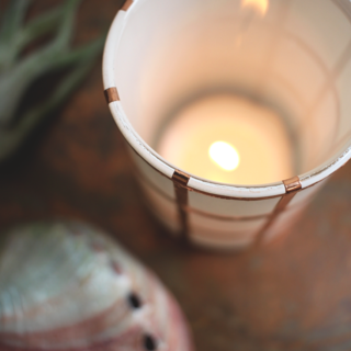 DIY Copper Grid Votive @idlehandsawake
