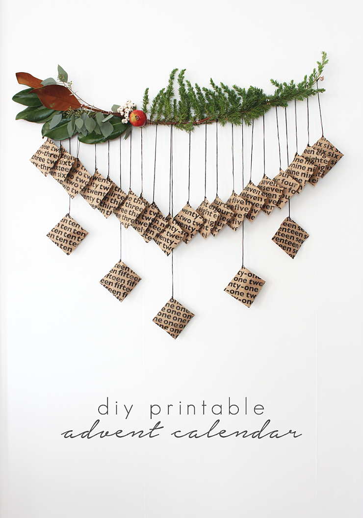 DIY Printable Advent Calendar by Idle Hands Awake