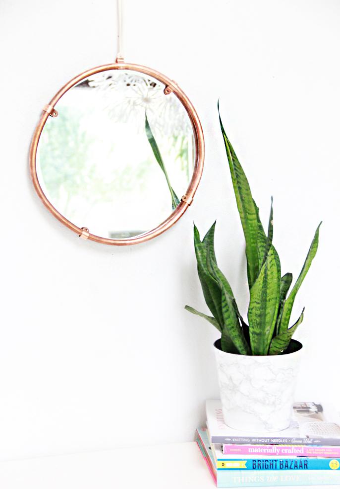 A Bubbly Life Copper Mirror
