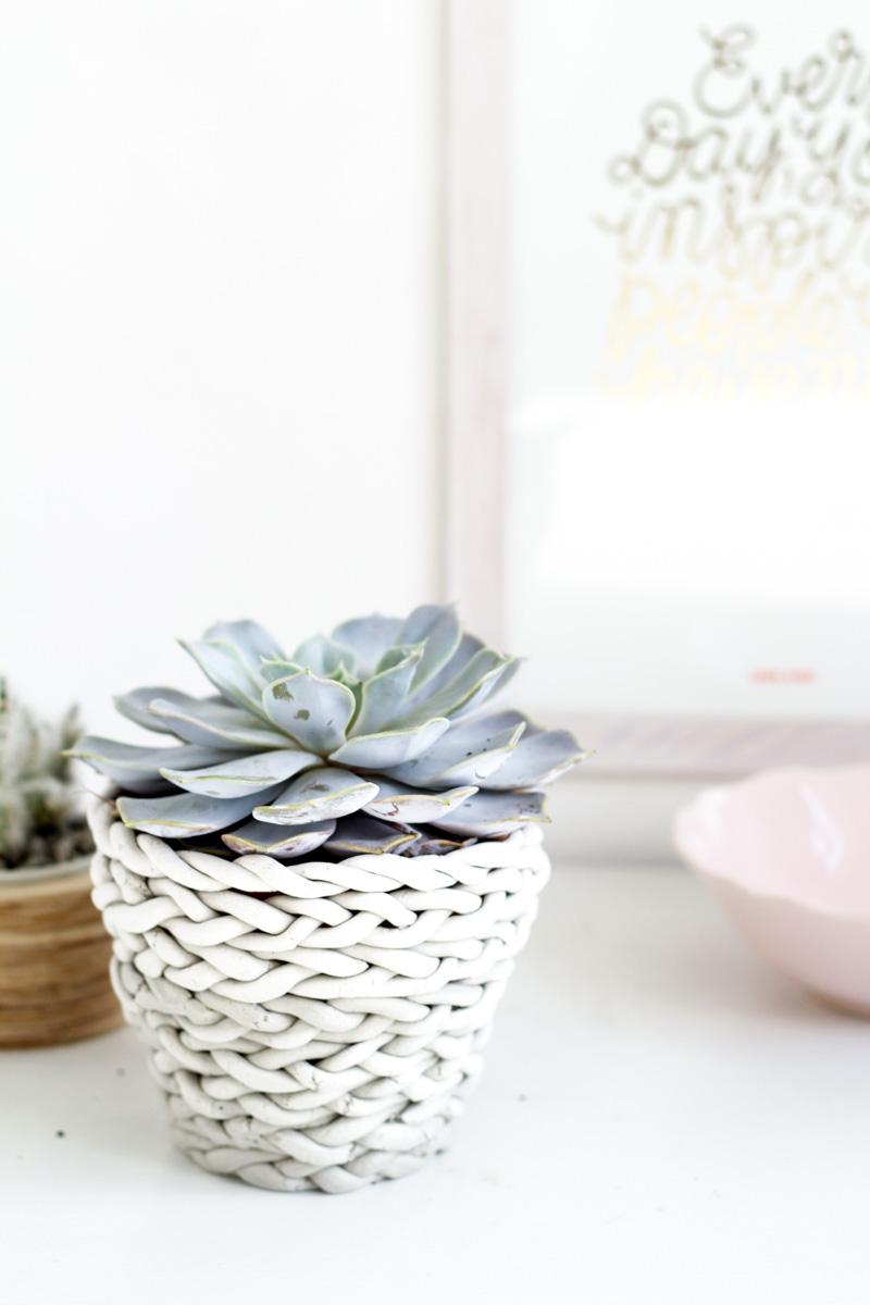 Fall For DIY plaited planter