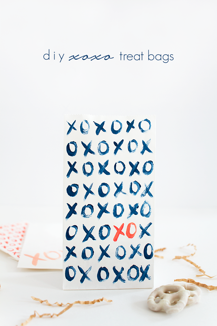 DIY XO Valentine's Day Treat Bags by Idle Hands Awake