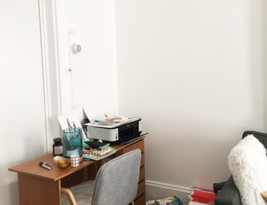 Scandinavian Workspace Makeover - Before