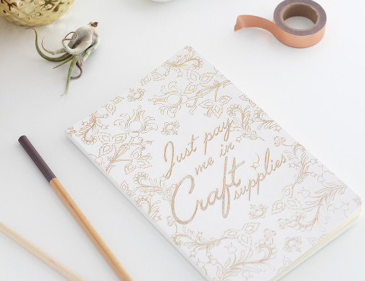 Just Pay Me in Craft Supplies - Custom Notebook by Idle Hands Awake