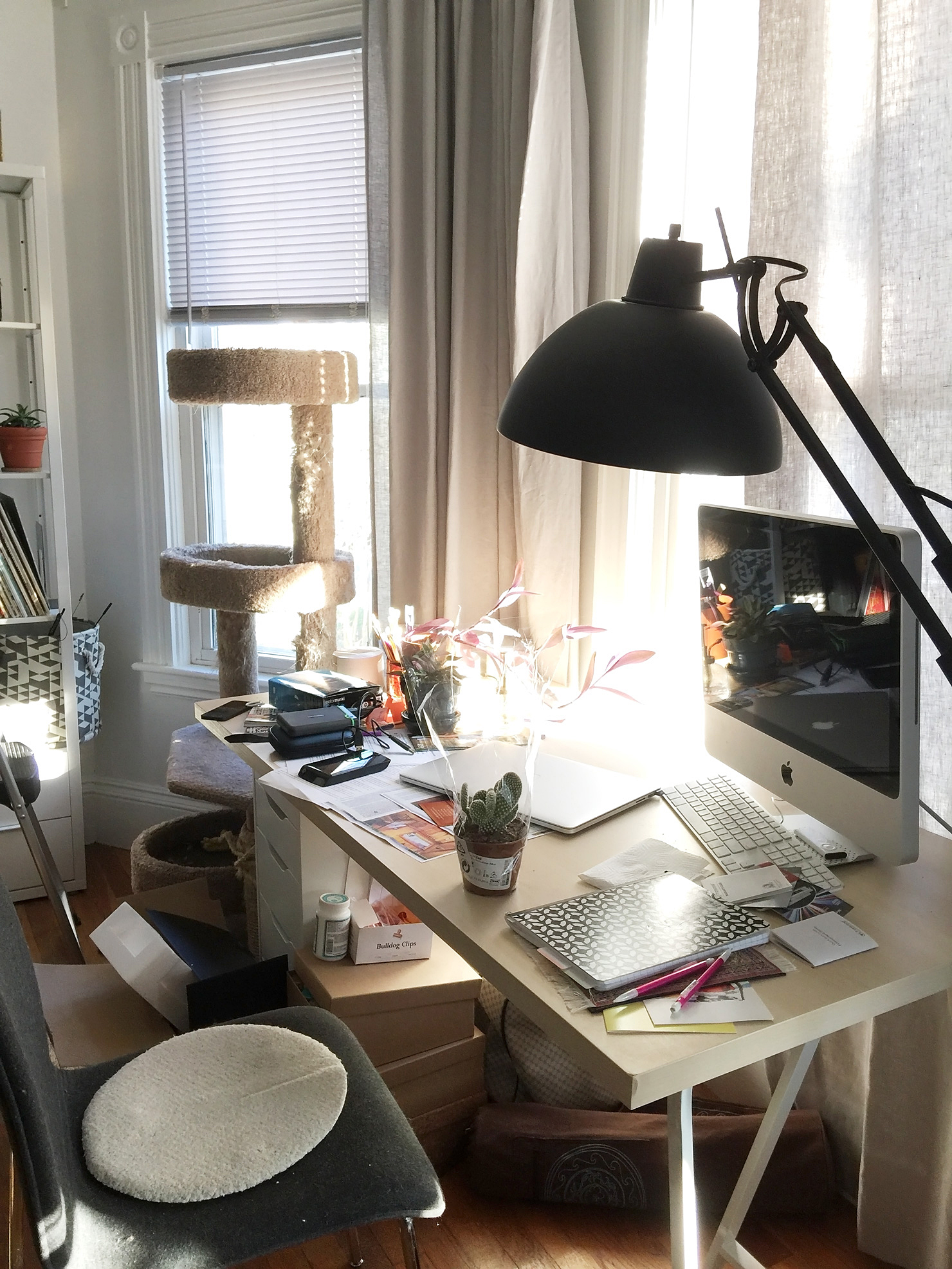 Scandinavian Workspace Makeover The Before Idle Hands Awake