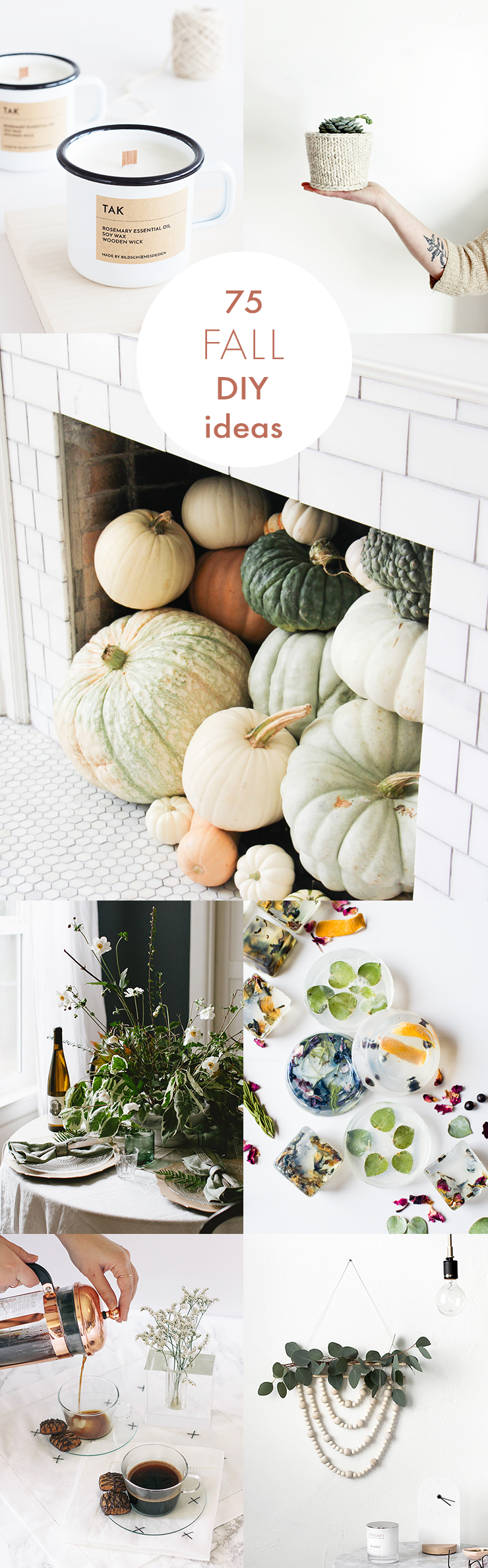 Eat, drink, decorate, and hygge your way into the season with these 75 cozy fall DIY projects.